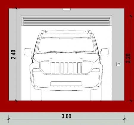 Módulo-Individual_A-A_Como fazer projetos de garagem_programa de arquitetura BIM Edificius