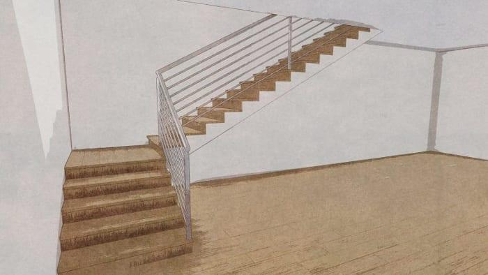 Projeto-escadas-internas_esboço-render-programa de arquitetura BIM-Edificius