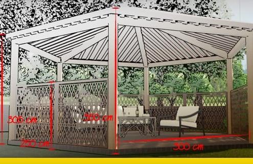 Como desenhar um pergolado: o guia para realizar pergolados, gazebos, abrigos da chuva e telheiros_Edificius