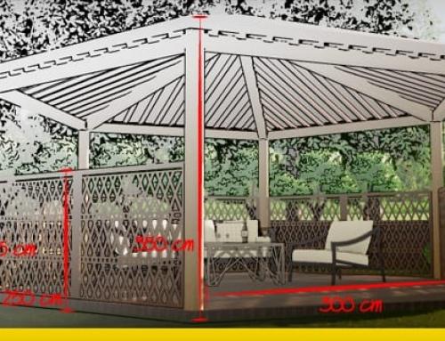Como desenhar um pergolado: o guia para realizar pergolados, gazebos, abrigos da chuva e telheiros