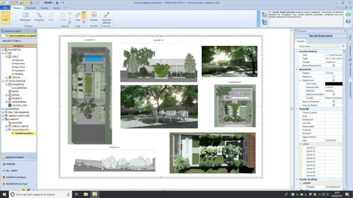 Como desenhar um jardim Prancha executiva