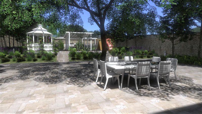 Como desenhar um jardim Render realizado com Edificius