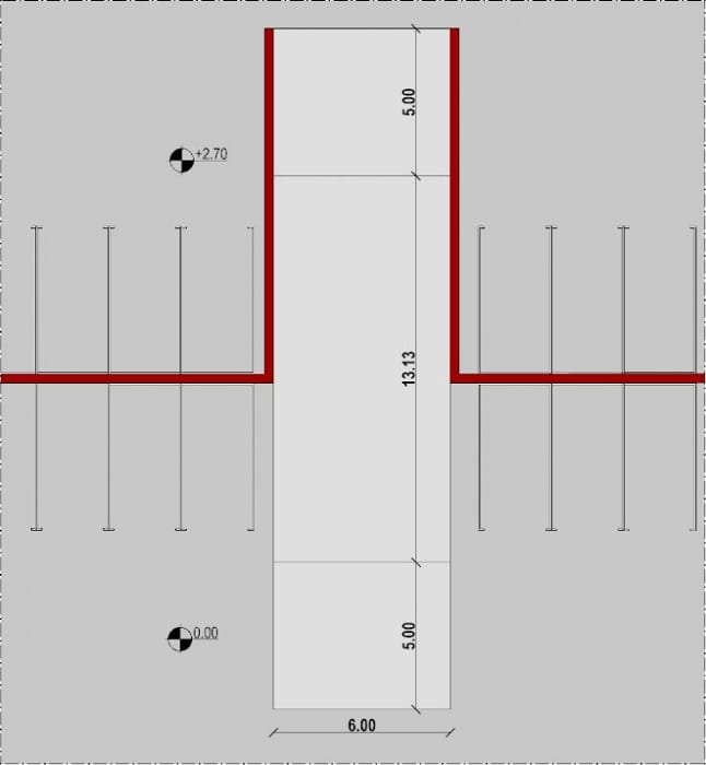 Projeto-Rampa-de-garagem_Rampa-Retilínea_Planta-programa de arquitetura BIM-Edificius
