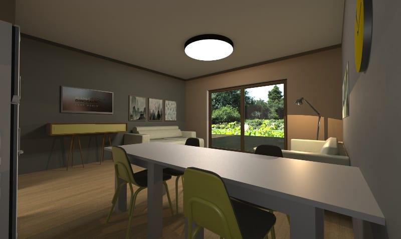 Arquitetura apartamento pequeno de 40 m rendering Edificius