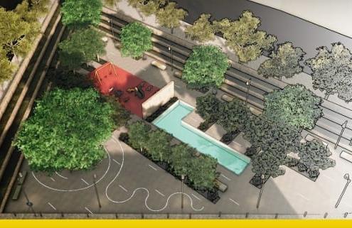 Projeto mobiliário urbano realizado com software BIM projeto arquitetônico
