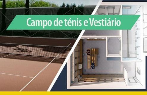Arquitetura esportiva: projeto de quadra de tênis e vestiário_Edificius
