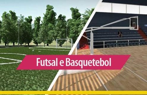 Arquitetura esportiva: quadra de futsal e quadra de basquetebol_Edificius