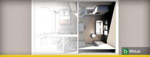 Plantas de casas com dois quartos: critérios, normas e exemplos