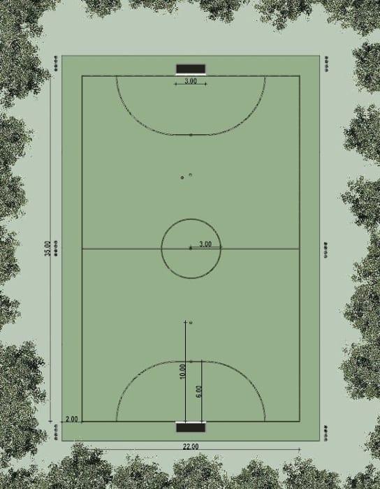 Projeto campo de futebol-Planimetria-programa de arquitetura Edificius