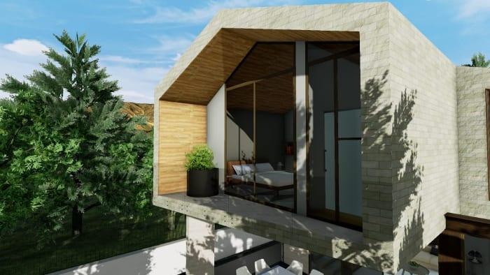 Quarto com varanda render_software-BIM_Edificius-10-tecnologias inovadoras mundo da construção usBIM.platform