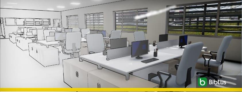 Projetar um escritório - Software BIM projeto arquitetônico - Edificius