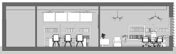 Prancha gráfica - Corte BB - Software BIM projeto arquitetônico Edificius