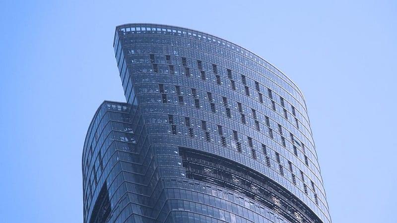 BIM no mundo 3 projetos realizados na China Detalhe do topo da Shanghai Tower