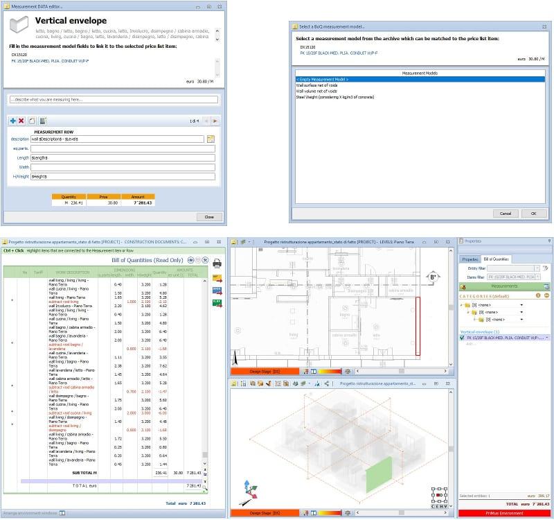 Criação automática do orçamento programa de arquitetura Edificius