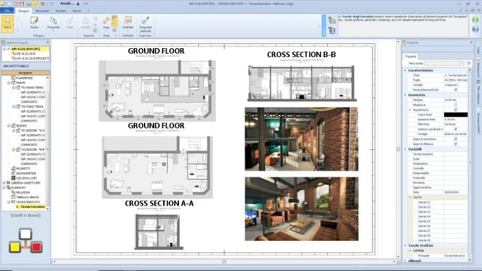 Projeto de loft-prancha gráfica executiva programa de arquitetura BIM-Edificius