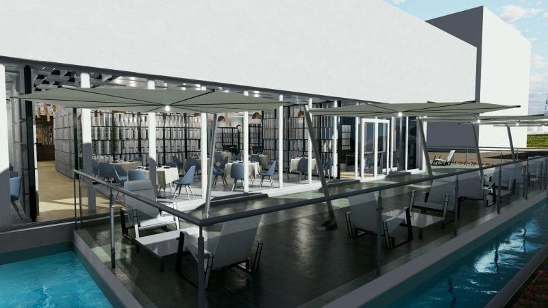 Projeto de restaurante-externos programa de arquitetura BIM Edifcius