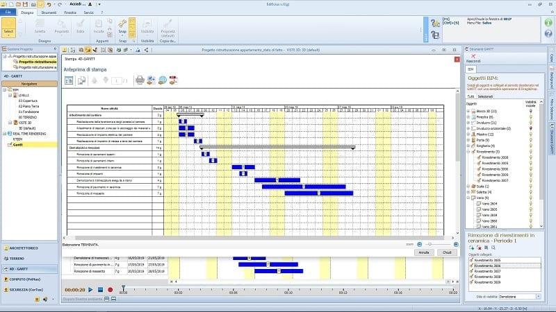 Cronograma de reforma em 5 passos_diagrama-gantt-demolições_4d-BIM-software-Edificius
