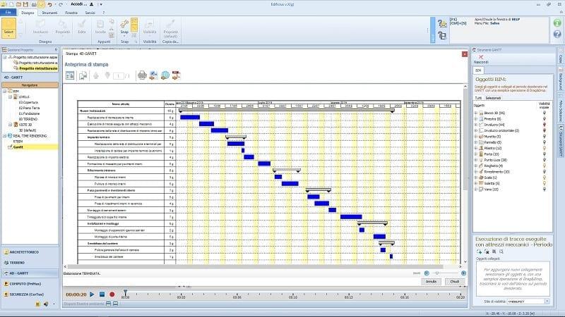 Cronograma de reforma em 5 passos_diagrama-gantt-novos itens realizados_4d-BIM-software-Edificius