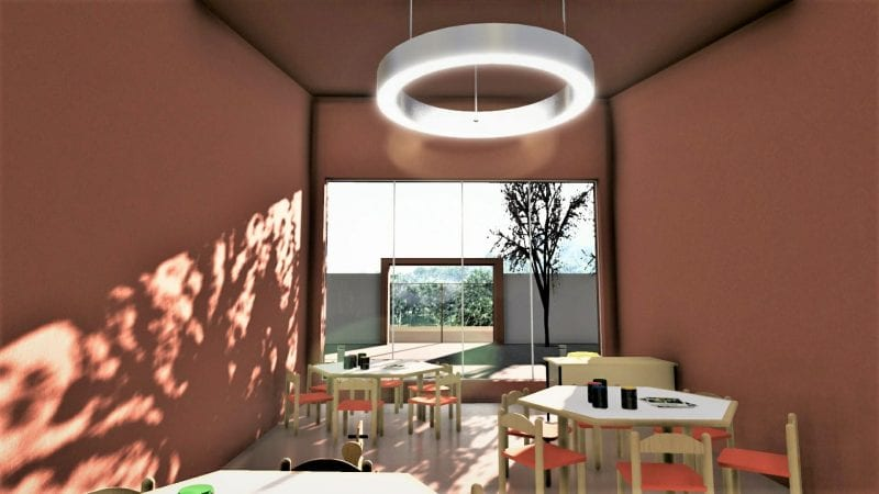 Projeto arquitetônico creche-render-sala de aula_software BIM para arquitetura 3d software_edificius