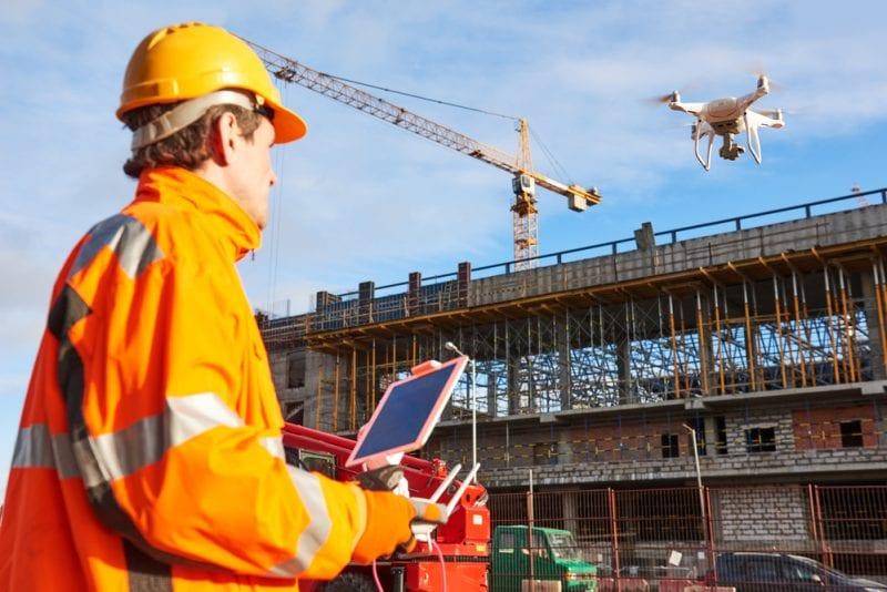 droni-verificação segurança canteiros de obras