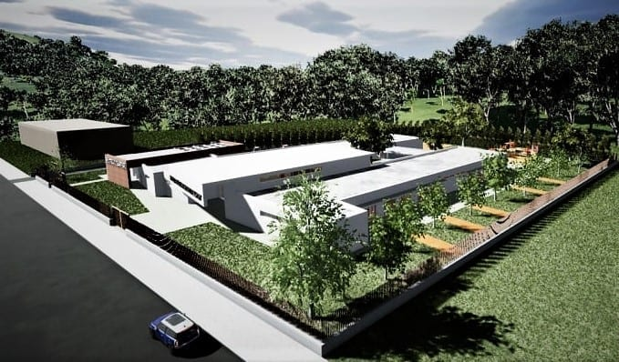 Projeto de escola primária-Render-alto_programa BIM de arquitetura 3D Edificius