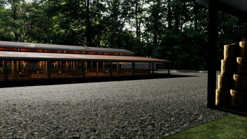 Projeto de estábulo-render-exteriores-software-bim-edificius