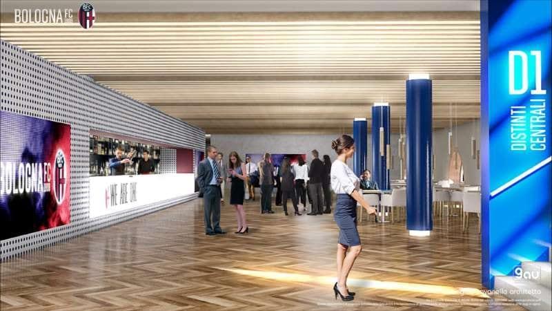 render-novo estádio Dall'Ara de Bolonha-área-lounge