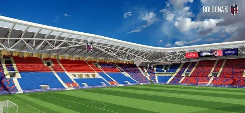 render-novo estádio Dall'Ara de Bolonha-arquibancadas