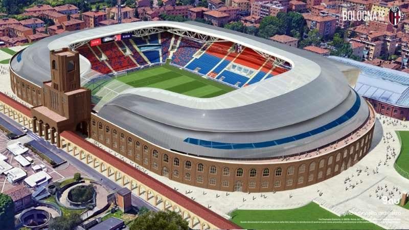 render-novo estádio Dall'Ara de Bolonha-panorâmica