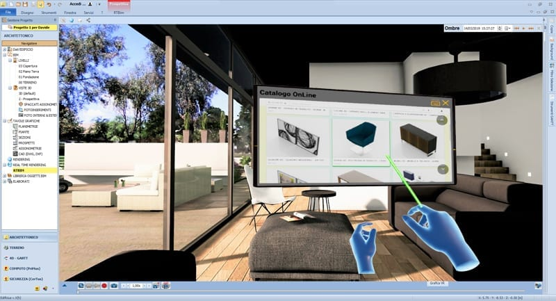 Edificius VR-realidade virtual imersiva na arquitetura modificação mobiliário