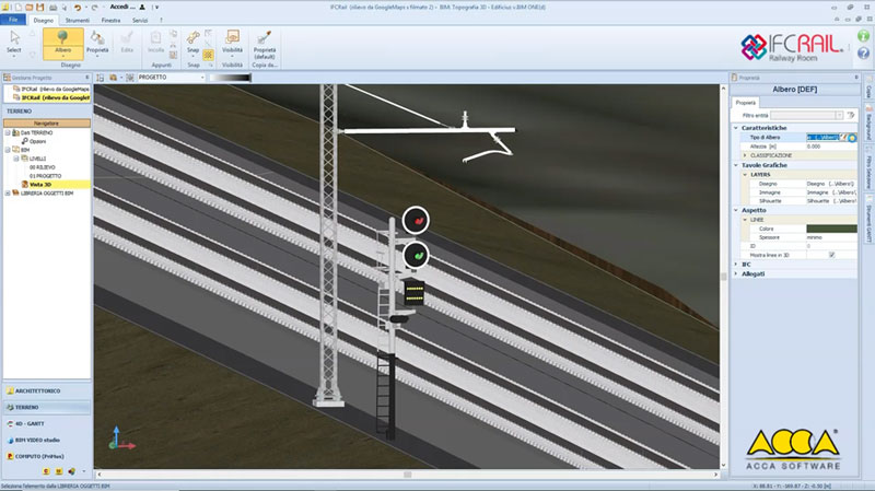 A imagem mostra o IFC Rail Signalling and level crossing