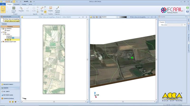 A Imagem mostra um IfcSite para modelagem do terrenoa modelagem do terreno