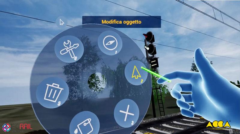 A imagem mostra a navegacao dos modelos na VRI