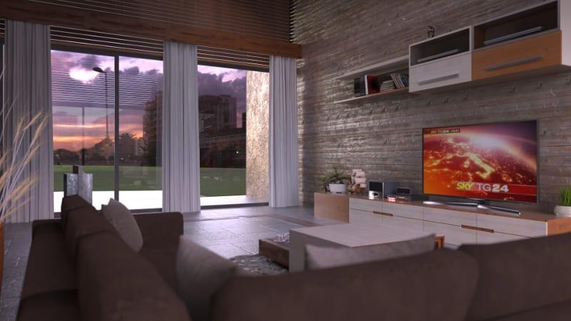 Render de interiores realizado com Edificius