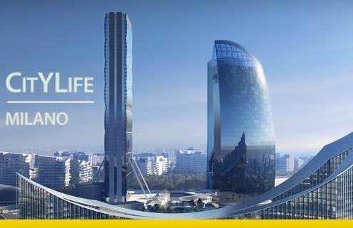 A imagem se refere a CityLife, bairro de Milão