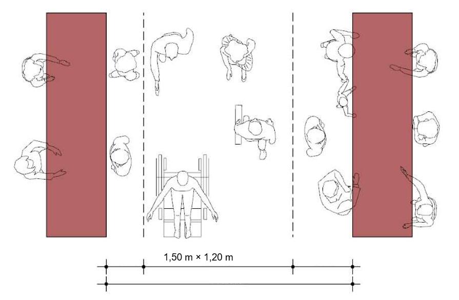 A imagem mostra um esquema dos percursos dos clientes dentro da loja