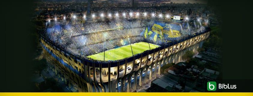 A imagem mostra o estadio de Buenos Aires