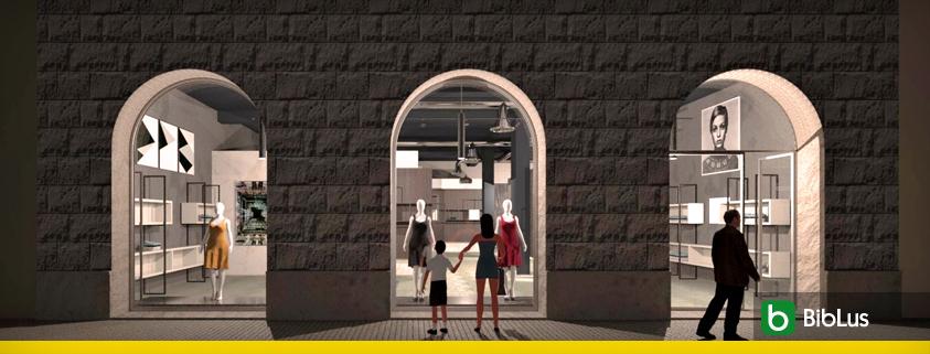 A imagem mostra a fachada de uma loja
