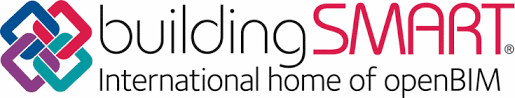 A ilustracao mostra o logotipo da Building Smart, organizacao que promove a troca de informacoes entre softwares