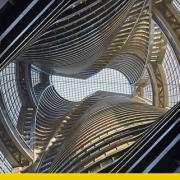 A imagem mostra a torre Leeza Soho em Pequim