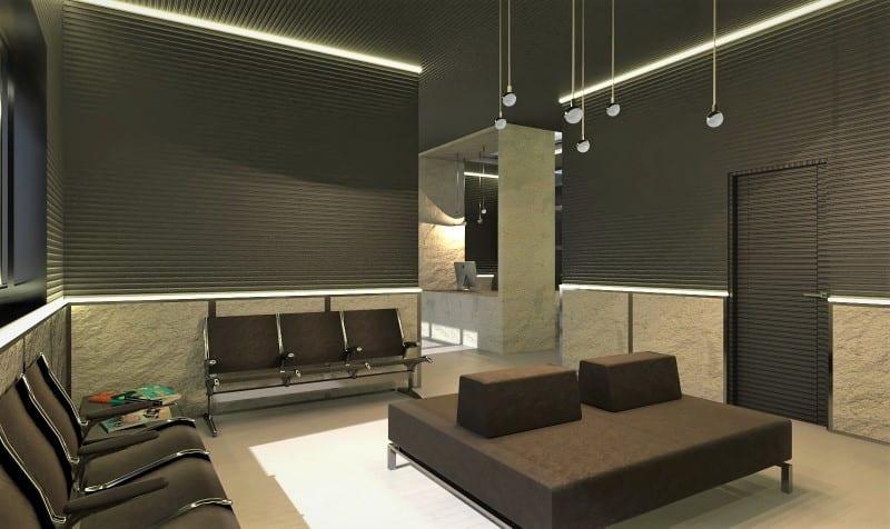 Render clinica odontologica realizado com Edificius, software de projeto arquitetonico BIM