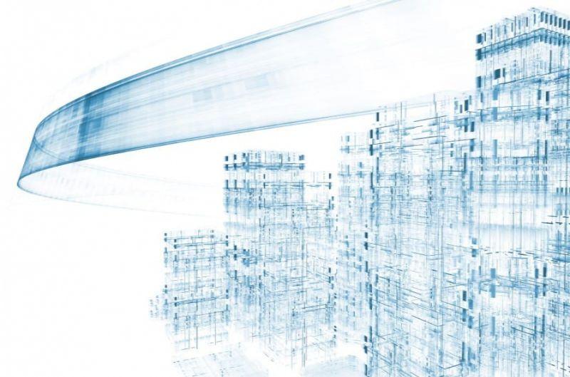 A imagem se refere às tecnologias emergentes na construção em 2020