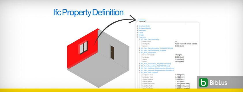A imagem mostra uma tela para definir as propriedades do arquivo IFC