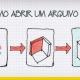 A ilustracao mostra os passos necessarios para abrir um arquivo ifc