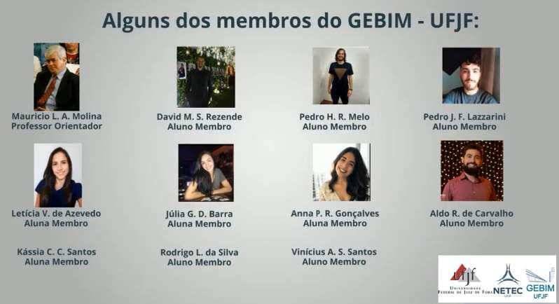 A imagem mostra alguns dos membros do GEBIM-UFJF