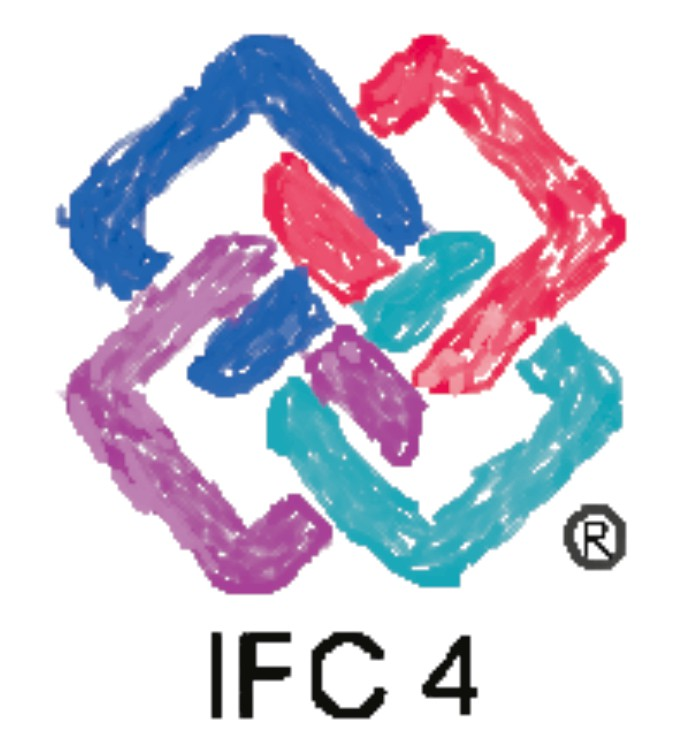 A imagem mostra o logotipo do IFC 4