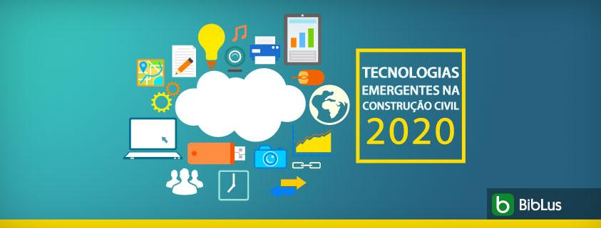 O grafico mostra as tecnologias emergentes na construcao civil