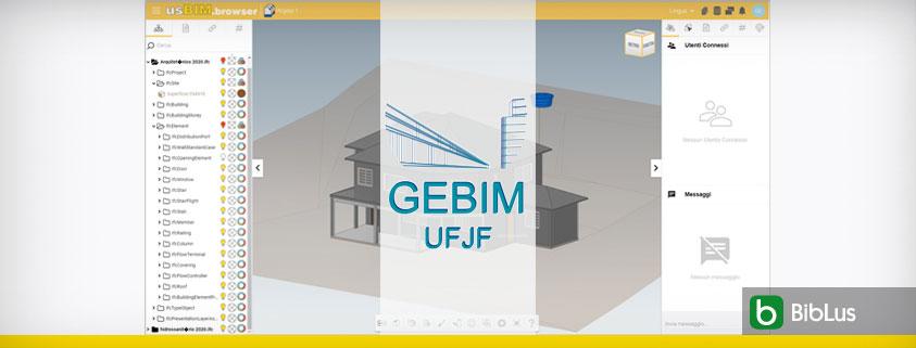 A imagem ilustra o projeto realizado pelo GEBIM UFJF com usBIM.platform