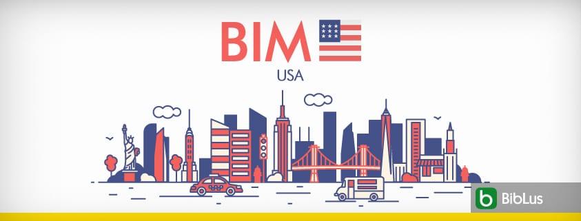 A imagem mostra o skyline americano junto com a escrita BIM USA