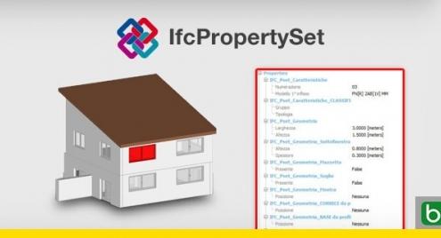 A imagem mostra a planinha do conjunto de propriedades IfcPropertySet